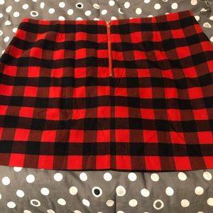 Flannel lined mini skirt